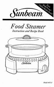Sunbeam Electric Steamer Food Steamer User Guide