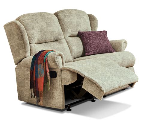 Reclining Settees by Malvern Small Fabric Reclining 2 Seater Settee Sherborne