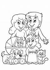 Kleurplaat Kleurplaten Voor Gezin Kinderen Een Staat Leuke Gratis Met Geboorte Kat Waar Hele Het Zusje Tijdmetkinderen Familie Broertje Ouders sketch template