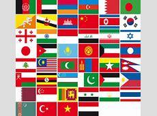 Drapeaux asiatiques Asie