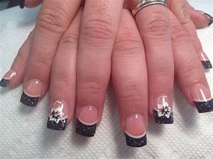 45 cool black tip nail designs for trendy