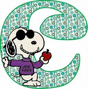 153 best peanuts alphabet images on pinterest charlie With snoopy letters