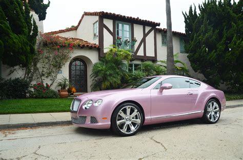 pink  bentley continental gt  sale autoevolution