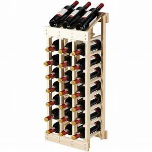Gymax, 24, Bottle, Wood, Wine, Rack, 3, Column, 8, Row, Storage, Display, Shelf, Free, Standing