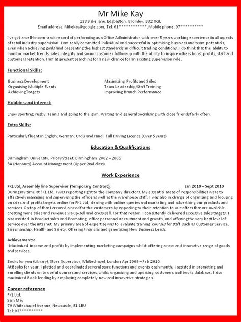 How To Write Resume For Internship by How To Write Resume Out Of Darkness