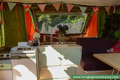 City Living In A Pop Top Camper   Living Big In A Tiny House