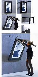 Cadre Décoratif Mural : coup de c ur une table pliante qui se transforme en cadre mural floriane lemari ~ Teatrodelosmanantiales.com Idées de Décoration