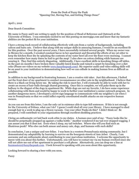 A 'Fuzzy' Cover Letter | Open Cover Letters
