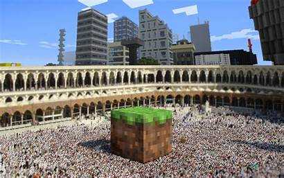 Minecraft Background Wallpapers Mecca Arena Cube Epic