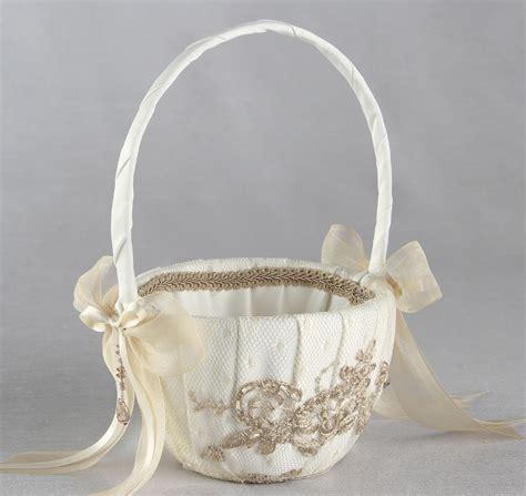 bella donna flower girl basket champgne flower girl