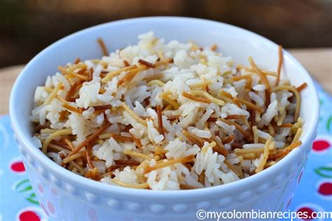 wooden salad arroz con fideos rice with hair pasta my