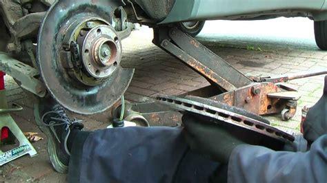 xc rear brake handbrake shoes change  cleanup youtube