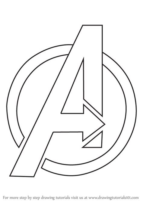 avengers logo page coloring pages