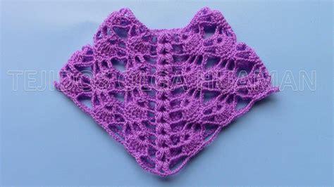 muestra a crochet para tejer poncho calado en punto ara 209 itas paso a paso