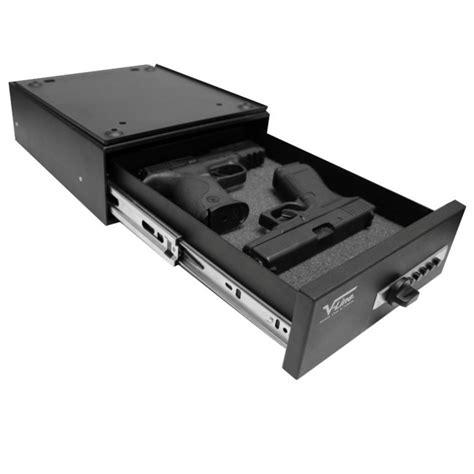 under desk lock box v line 10123 slide away quick release pistol case install