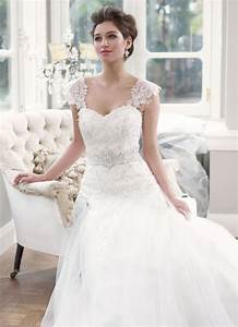 sweetheart wedding dress with detachable lace cap sleeves With lovely wedding dresses