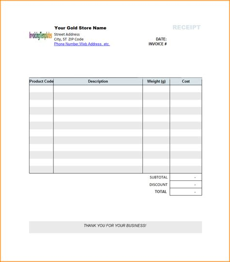 Receipt Template Word 12 Invoice Template Microsoft Word Invoice Template