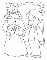 Coloring Groom Bride Bestcoloringpages Guardado Desde Novios sketch template