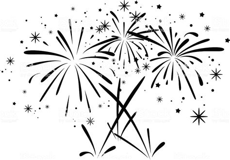 vector abstract black and white bursting fireworks stock vector 476921840 istock