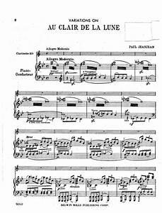 Variations on 'Au clair de la Lune' (Jeanjean, Paul ...