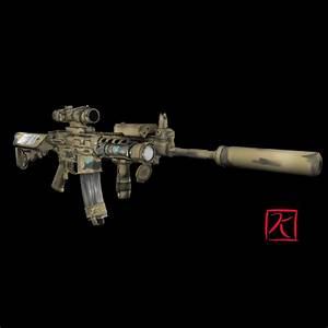 3D M4A1 Carbine by kevinfrancisserrano on DeviantArt