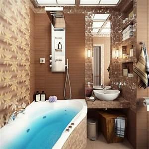 Badezimmer Mit Mosaik Gestalten : kleines modernes badezimmer mit mosaik gestalten tipps und tricks badezimmer kleine ~ Buech-reservation.com Haus und Dekorationen