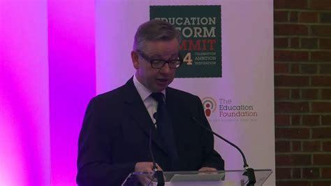 education reform summit  michael gove youtube