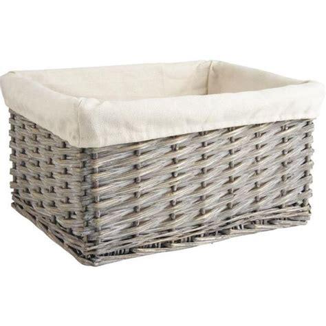 corbeille de rangement en osier gris et coton 3 achat