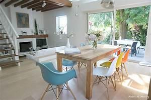 Visite le salon sejour entre shabby chic et design for Idee deco cuisine avec meuble sejour scandinave