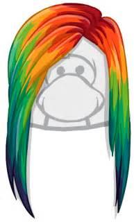 Hair Club Penguin Rainbow Puffle ID