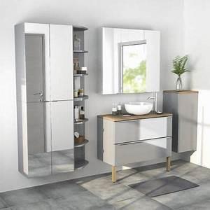 Miroir Castorama Salle De Bain : armoire salle de bains gris miroir 60 x 90 x 36 cm imandra castorama ~ Melissatoandfro.com Idées de Décoration