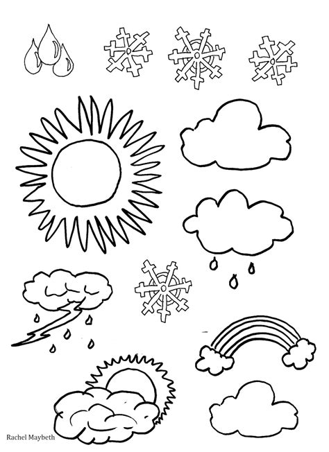 Coloring Weather by Maybeth Free Weather Clipart Coloring Pages