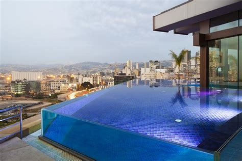 Dubai Hotel With Pool On Balcony by Infinity Pools And Cafe Culture Beirut Turns Cool Hotel