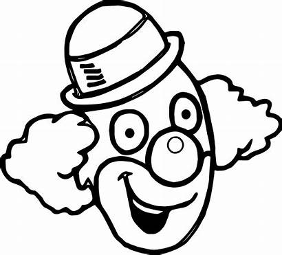 Clown Face Happy Coloring Pages Drawing Grinch