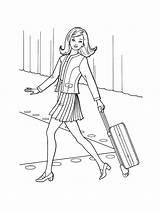 Coloring Pages Bon Voyage Nice Trip Jovi Printable Clothes Barbie Paper Template sketch template