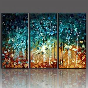 Wall art designs piece handmade painting trees