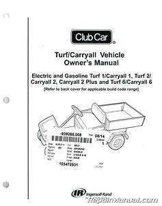 Club Car Turf    Carryall Owners Manual