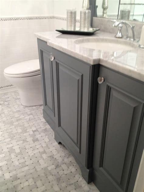 gray bathroom vanity transitional bathroom