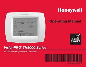 Honeywell Visionpro Th8000 Series User Manual