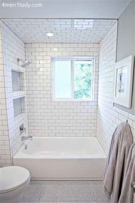subway tile shower niches bathrooms