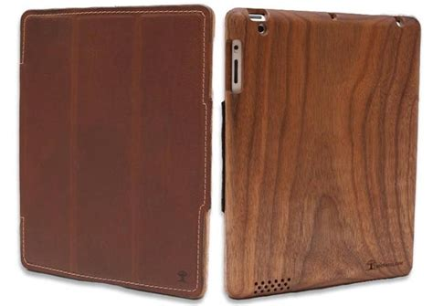 Handmade Wooden iPad 3 Case with Leather Cover | Gadgetsin