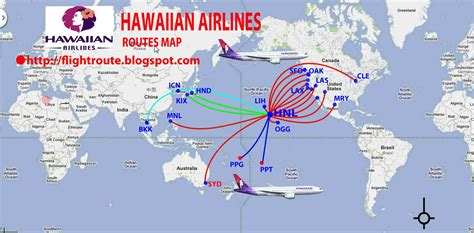 routes map hawaiian airlines routes map