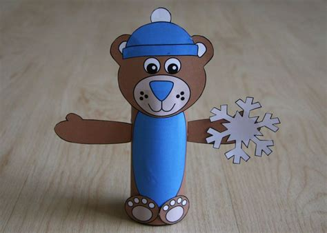 winter bear tp roll craft paper roll crafts toilet
