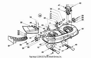 Troy Bilt 13ad604g063  1999  Parts Diagram For Deck