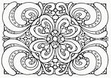 Coloring Pattern Floral sketch template