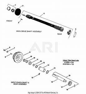 Troy Bilt 5151 Pony V Parts Diagram For Drive Shaft  Input