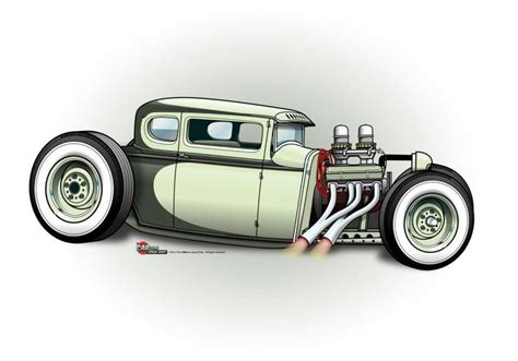 cartoon speed shop hot rod artcartoons