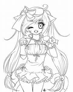 Anime Neko Girl Og Dessins Anime Pinterest Coloring
