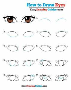 How to Draw Eyes – Really Easy Drawing Tutorial   Eye ...