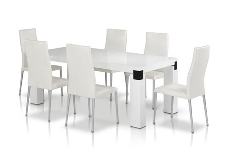 modern dining table set rectangular white dining table and chairs set dining table white ikea